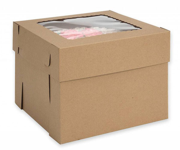 """SpecialTCake Boxes with Window 15-Pack 10"""" x 10"""" x 5"""" Inch White Bakery Boxes"""